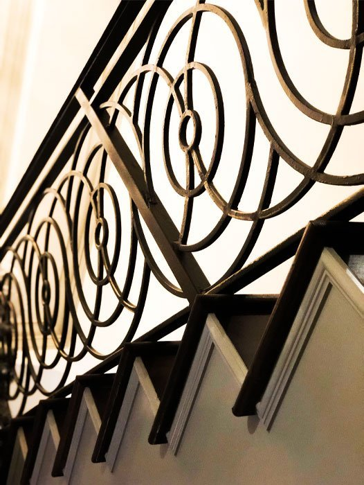 Custom Stair Railing Design | Thrown by Covet House