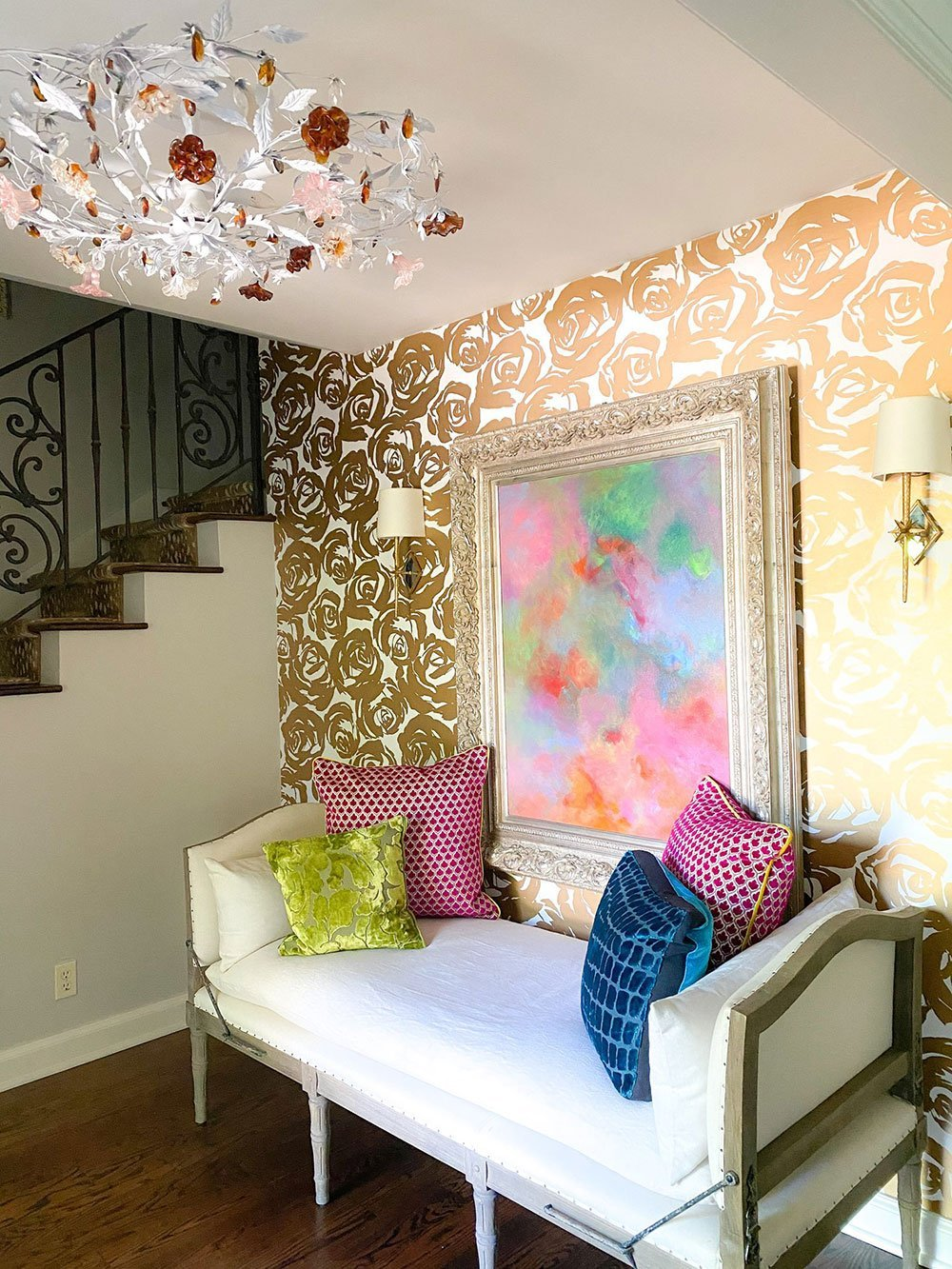 Colorful Entryway   Thrown by Covet House